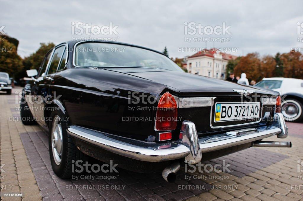 Classic retro car Jaguar XJ6 Series, luxury cars sold by the British...