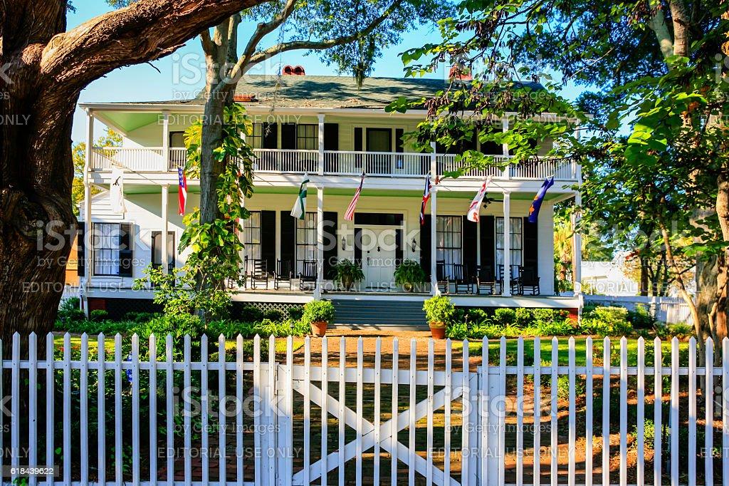 Classic Revival Lesesne House in Fernandina Beach City in Florida stock photo