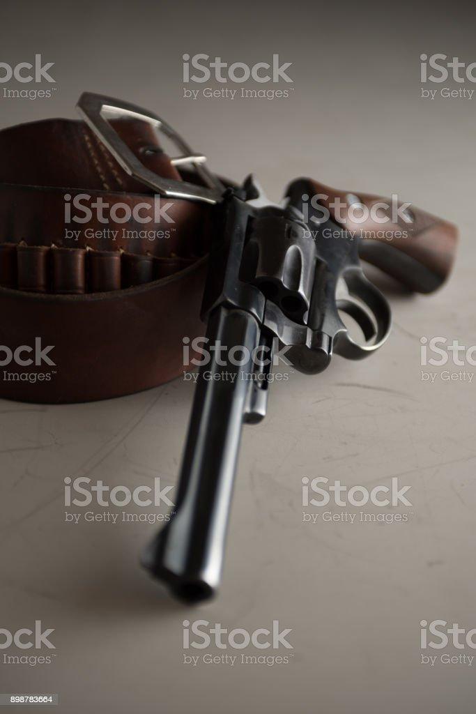 classic revolver handgun stock photo
