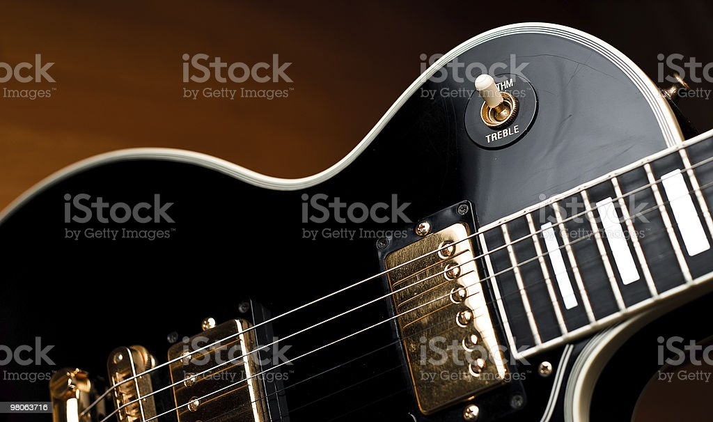 Classic rock and roll guitar. royalty-free stock photo