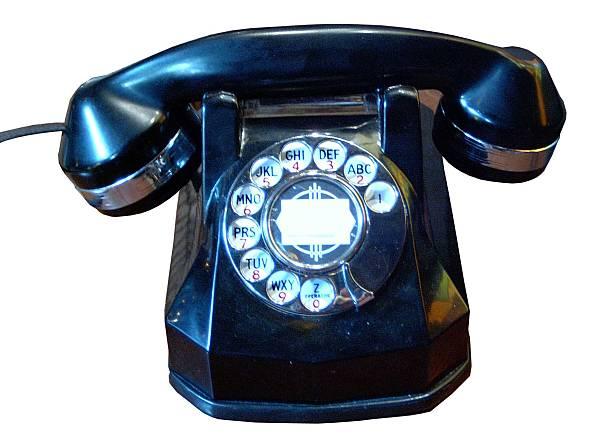 Classic Rotary Phone stock photo