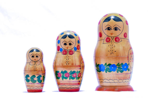 Classic Russian Matrioska Doll stock photo