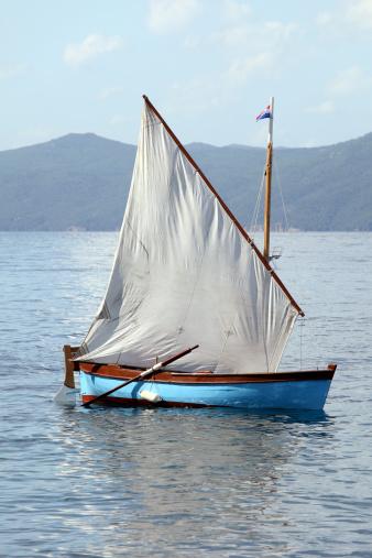 Classic sailing boat, Moscenicka Draga, Croatia