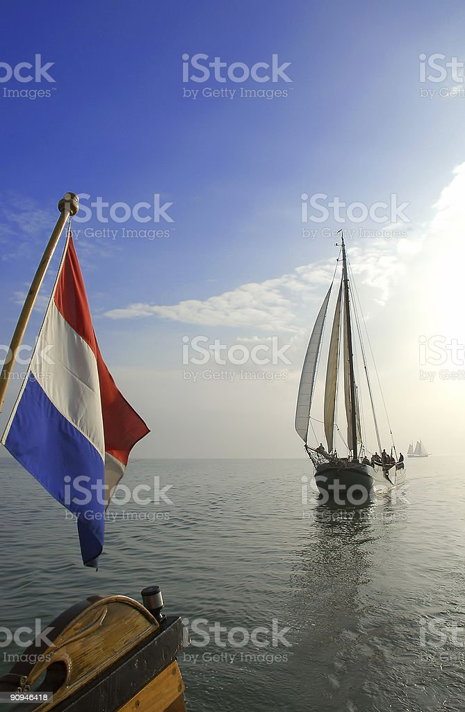 Classic sailing ships royalty-free stock photo
