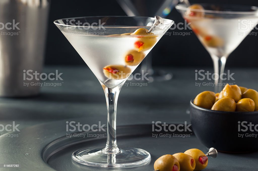 Classic Shaken Dry Vodka Martini stock photo