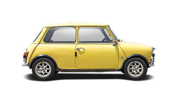 klassische kleinwagen - hecktürmodell stock-fotos und bilder
