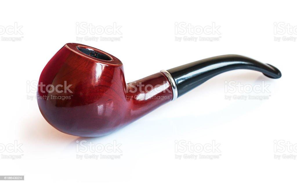 Classic smoking pipe stock photo