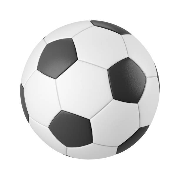 Klassischer Fußball isoliert auf weißem Hintergrund 3d render – Foto