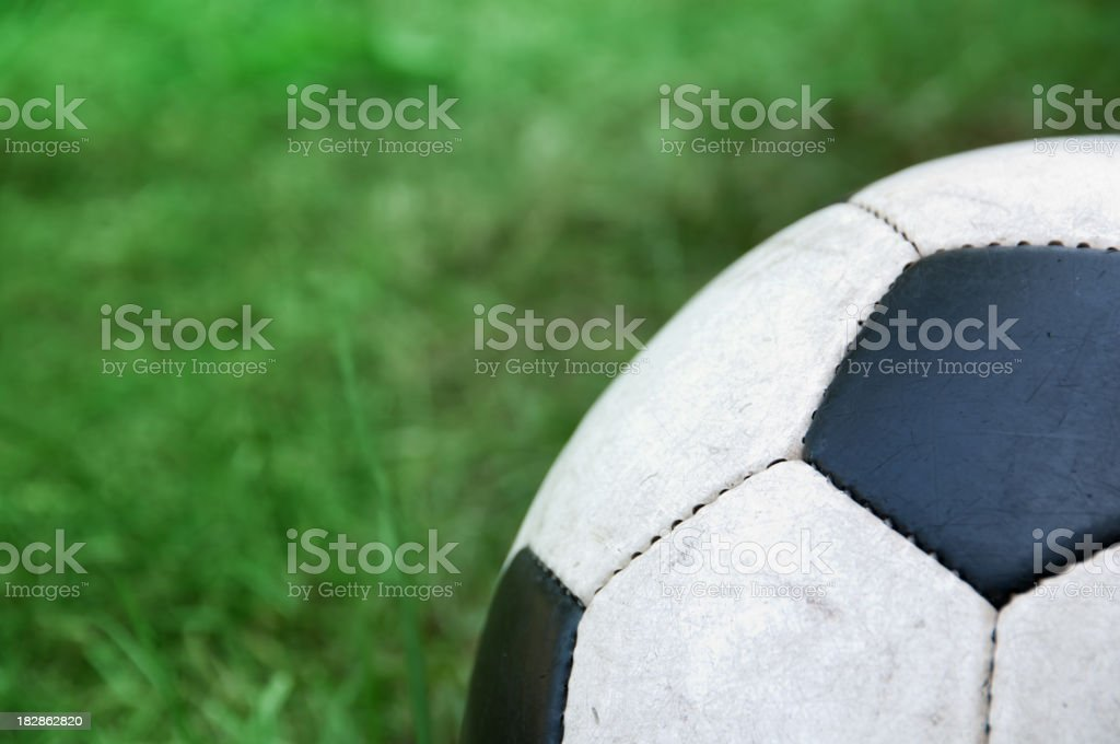 Classic soccer ball with copy space royalty-free stock photo