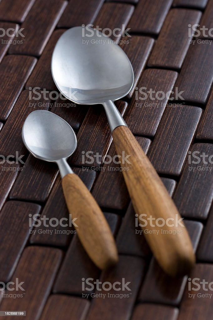 Classic spoon set royalty-free stock photo
