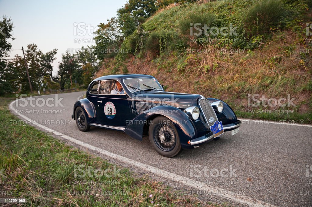Vintage Italian sports car Alfa Romeo 6C 2300 B Mille Miglia in...