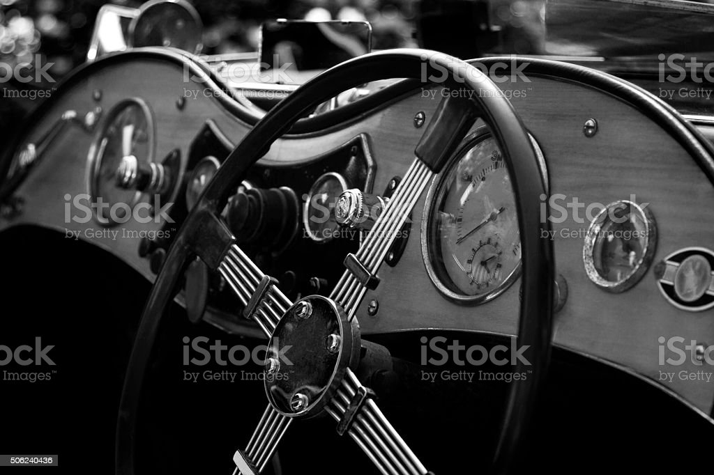 Classic sports car stock photo