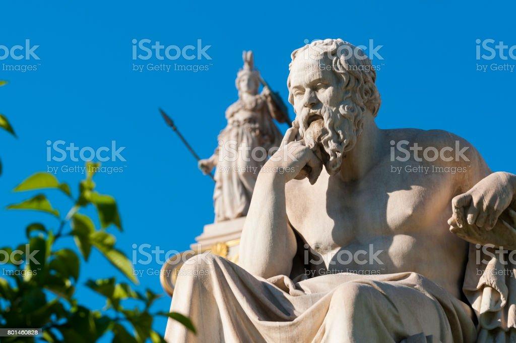 classic statue Socrates stock photo