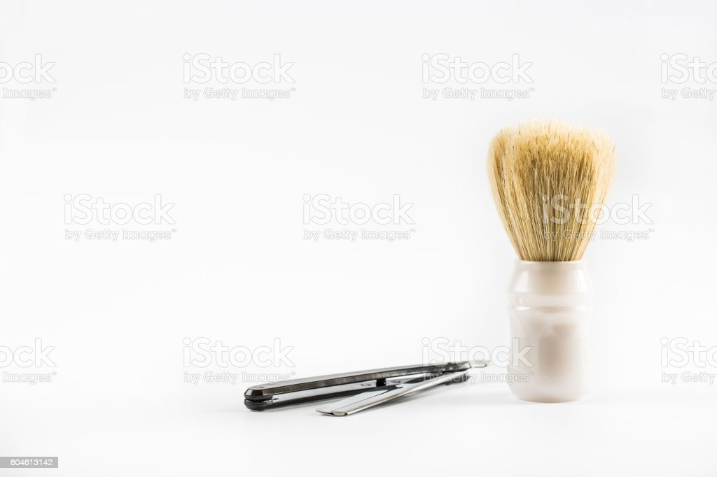 Classic Straight Razor And Shaving Brush Stock Photo More Pictures