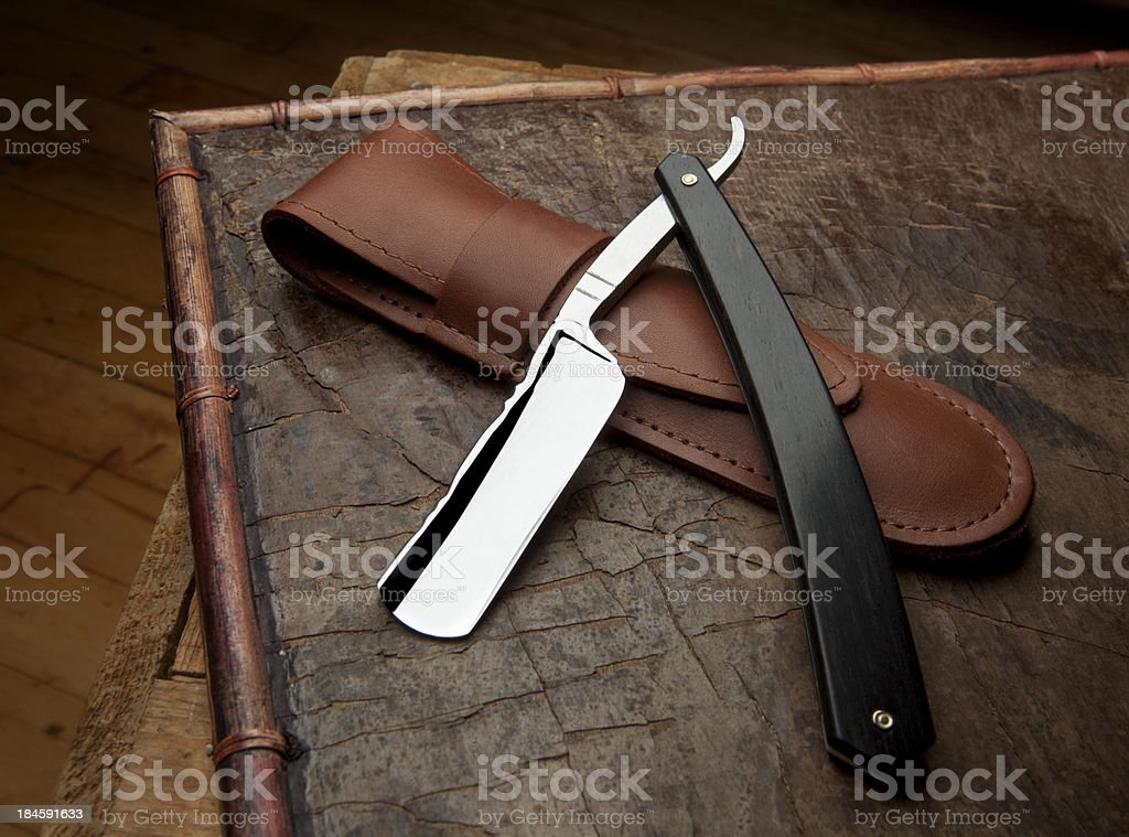 Classic Straight Razor stock photo