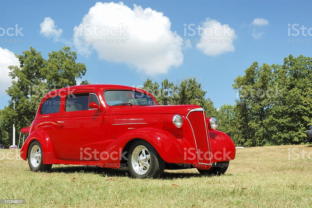 Classic Street Rod at Car Show stock photo