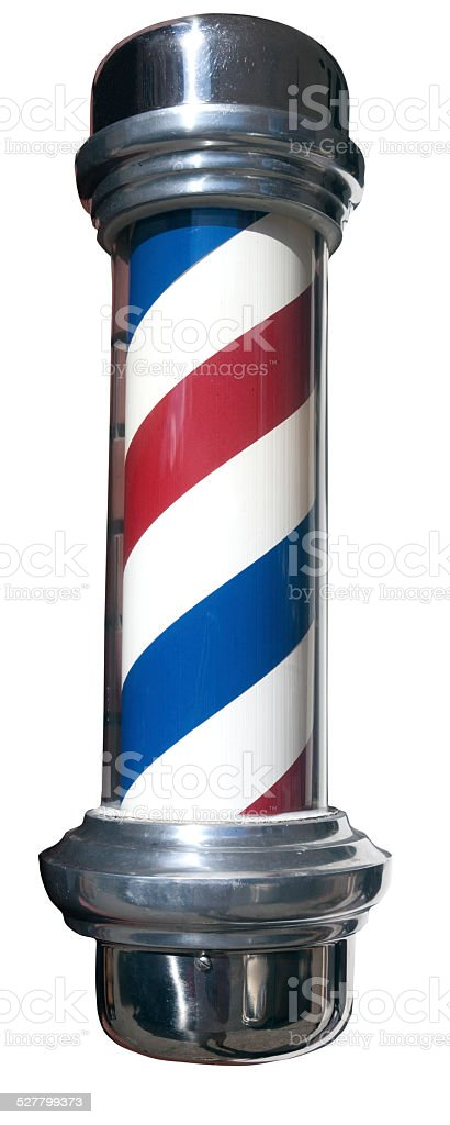 Classic Striped Barber Pole stock photo