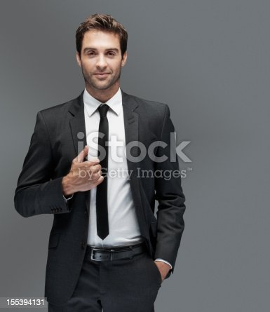 istock Classic style for the man about town 155394131