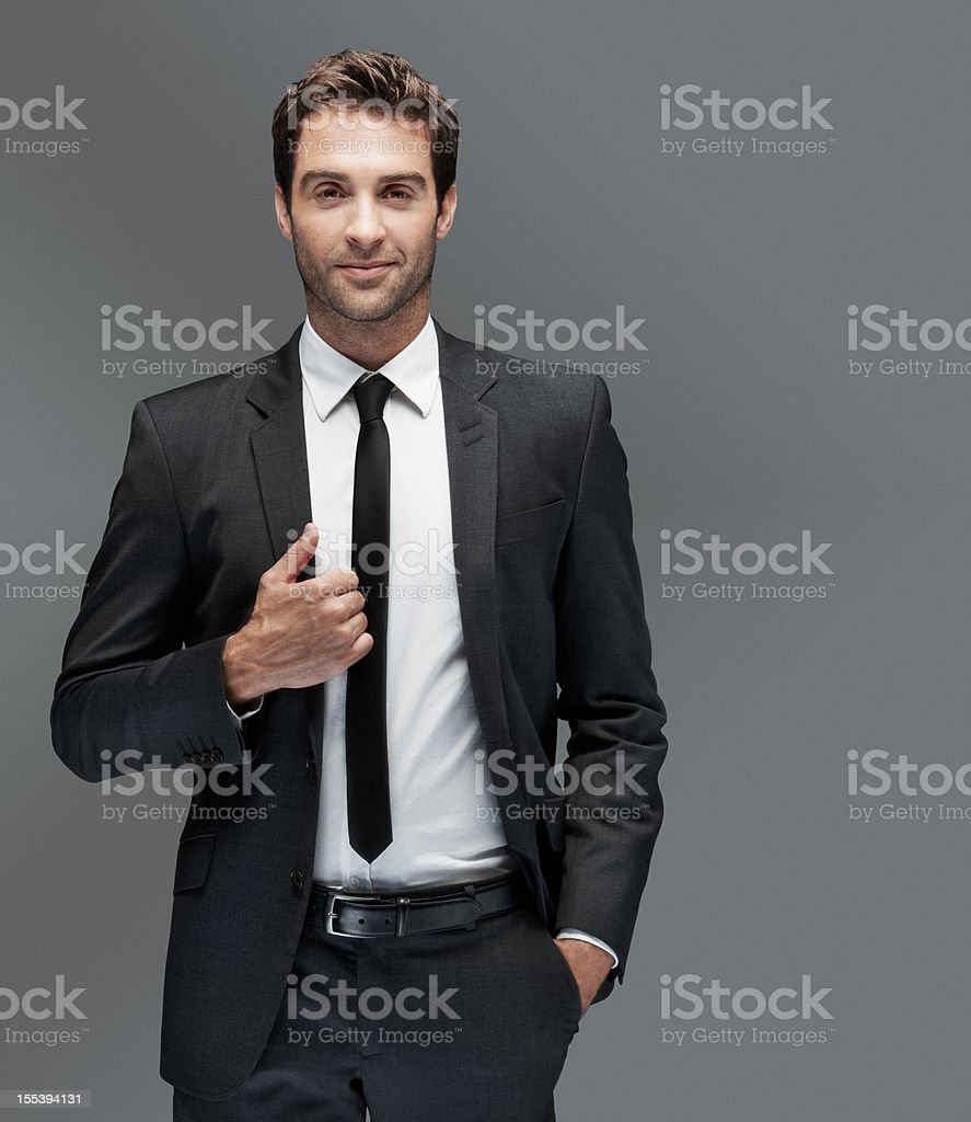 Classic style for the man about town stock photo