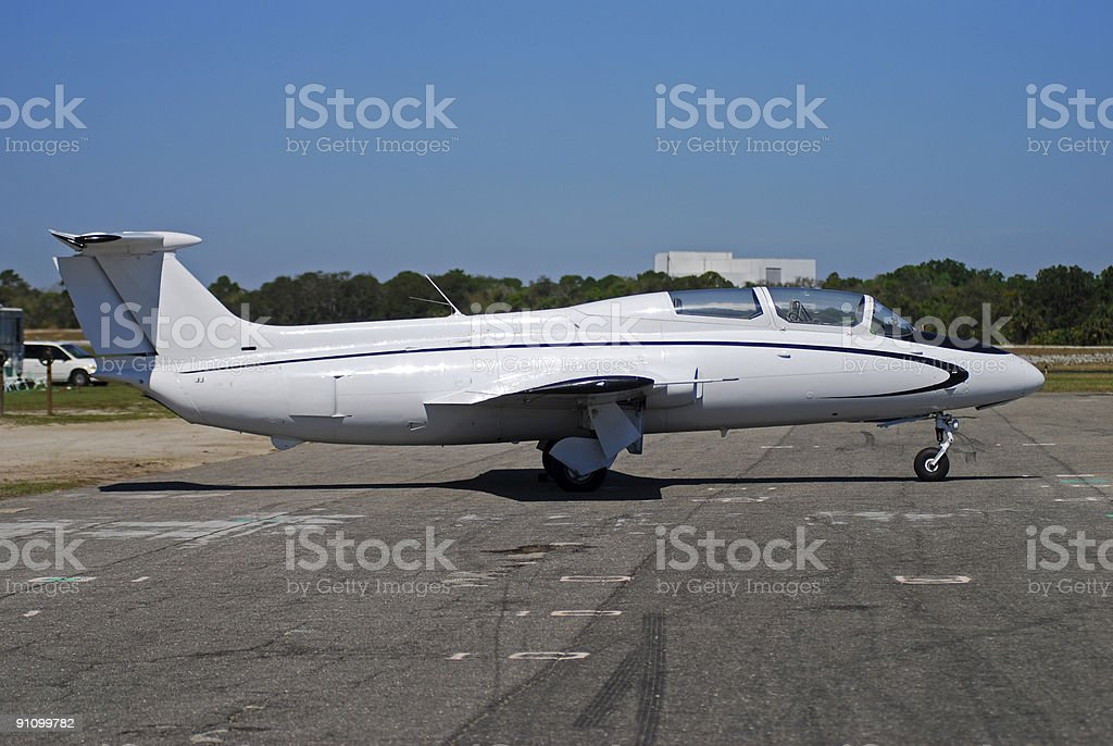 Classic style jet trainer airplane royalty-free stock photo