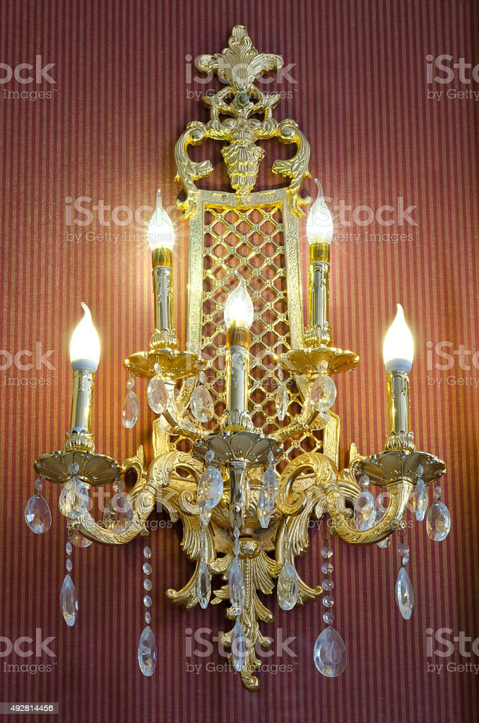 classic style sconce stock photo