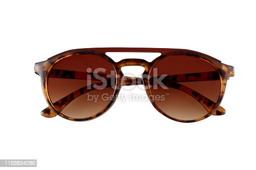 Plastic tinted hinged classic style sunglasses