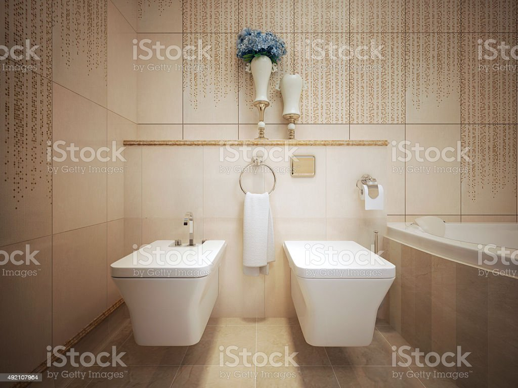 Classic style WC stock photo