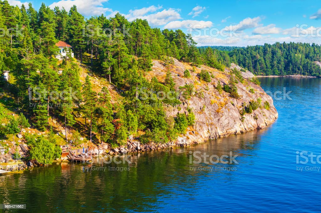 Classic summer landscape in Sweden royalty-free stock photo