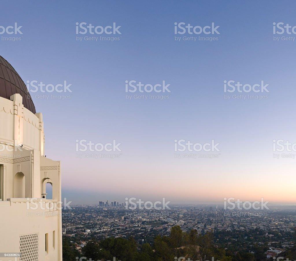 Classic LA sunset royalty-free stock photo