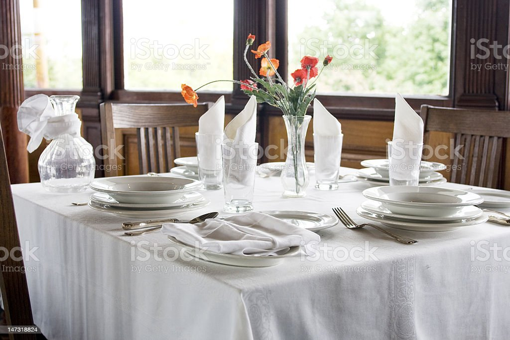 Classic table setting royalty-free stock photo