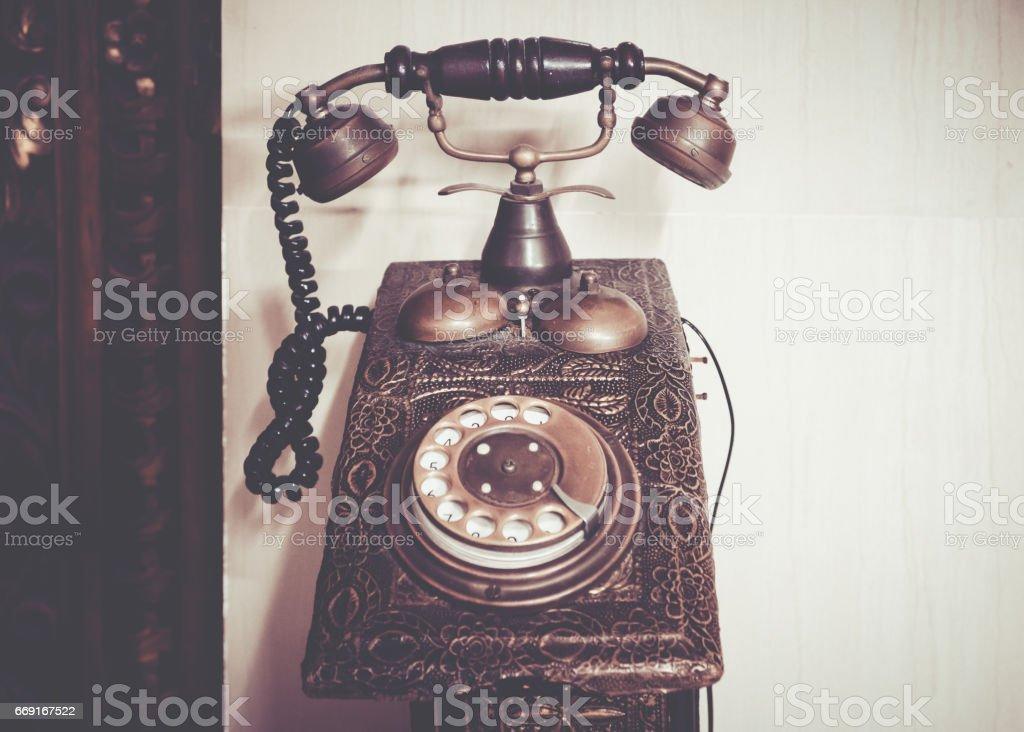 Classic telephone stock photo