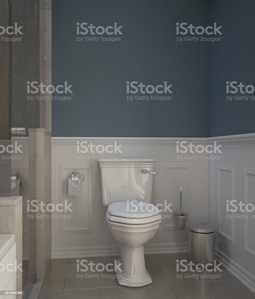 Classic toilet stock photo