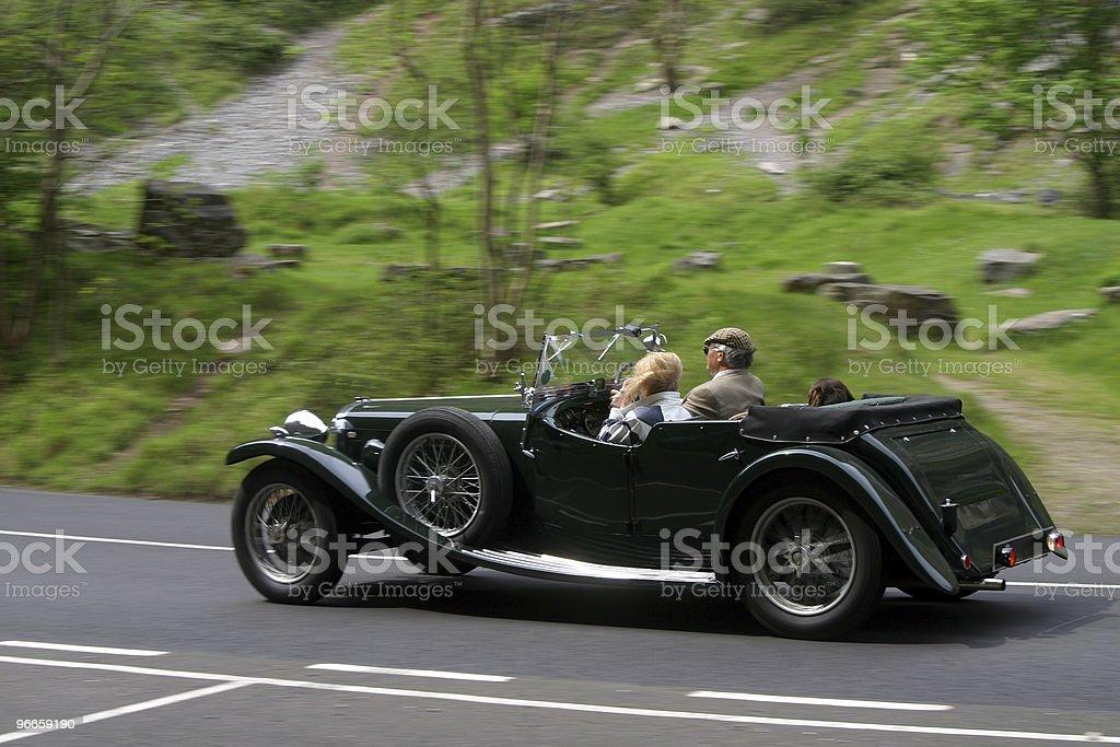 Classic touring car stock photo