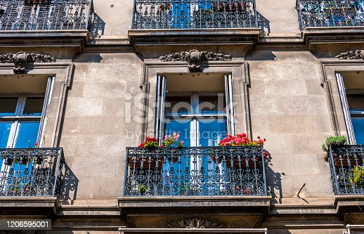 classic townhouses in Cannes, France