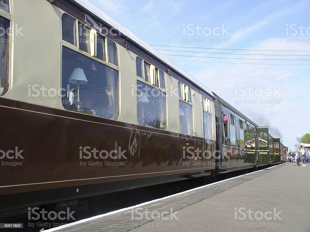 Classic train stock photo