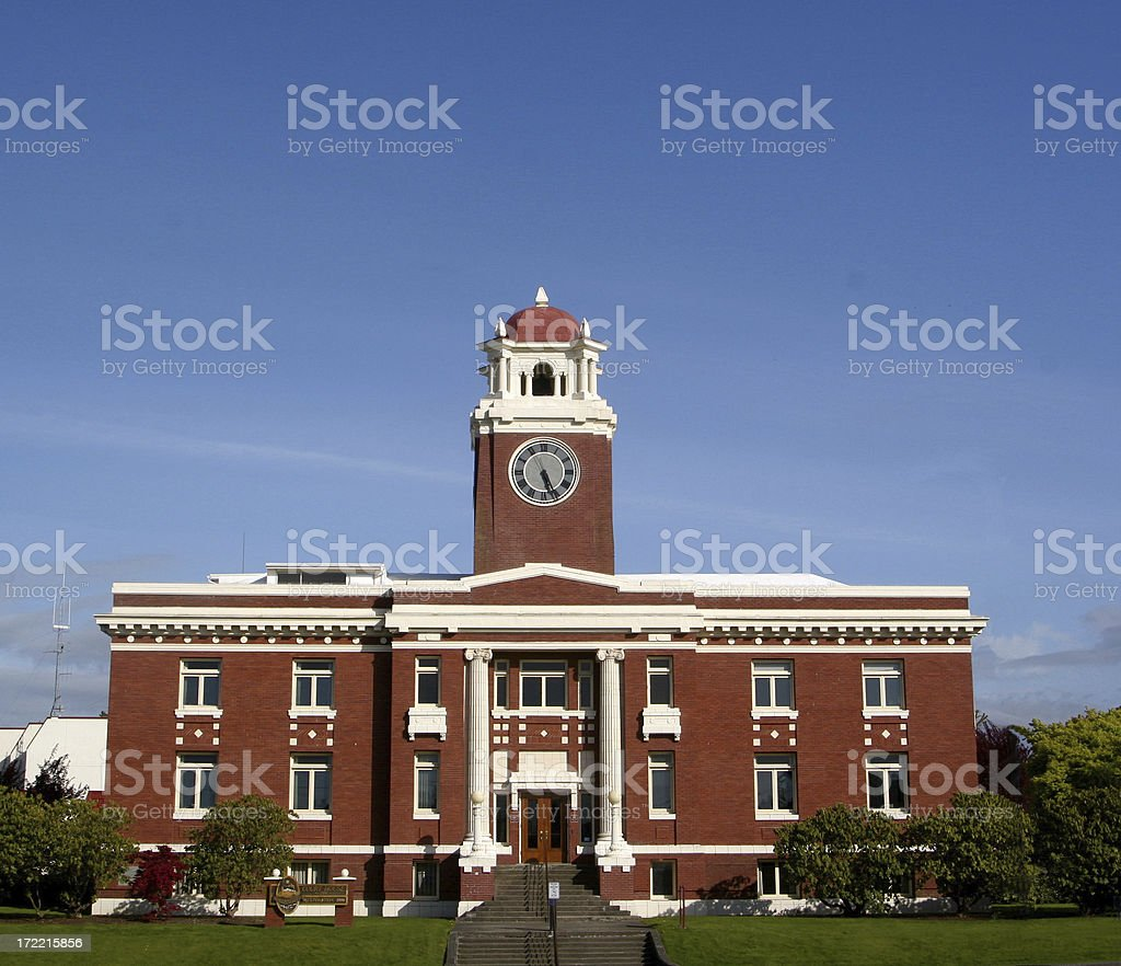 Classic Turn Of The Century Courthouse royalty-free stock photo