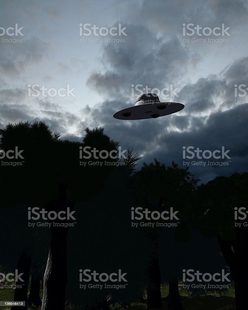 Classic UFOs V2 stock photo