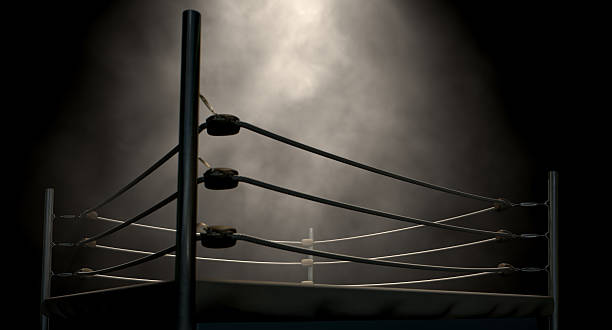 classic vintage boxing ring - boxing stock pictures, royalty-free photos & images