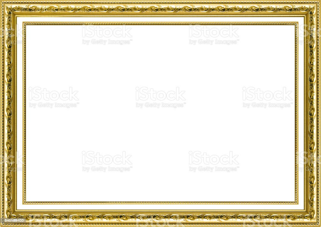 Classic Vintage Gilded Frame Isolated On White Background Stock ...
