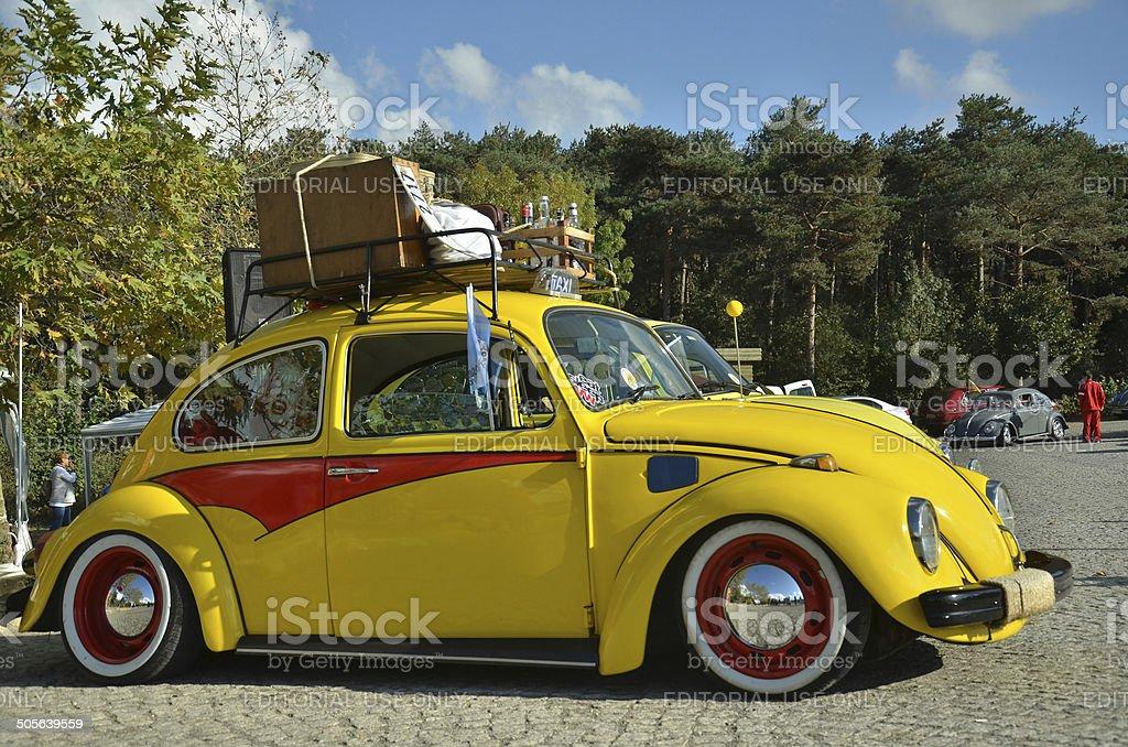 Classic Volkswagen Beetle car stock photo