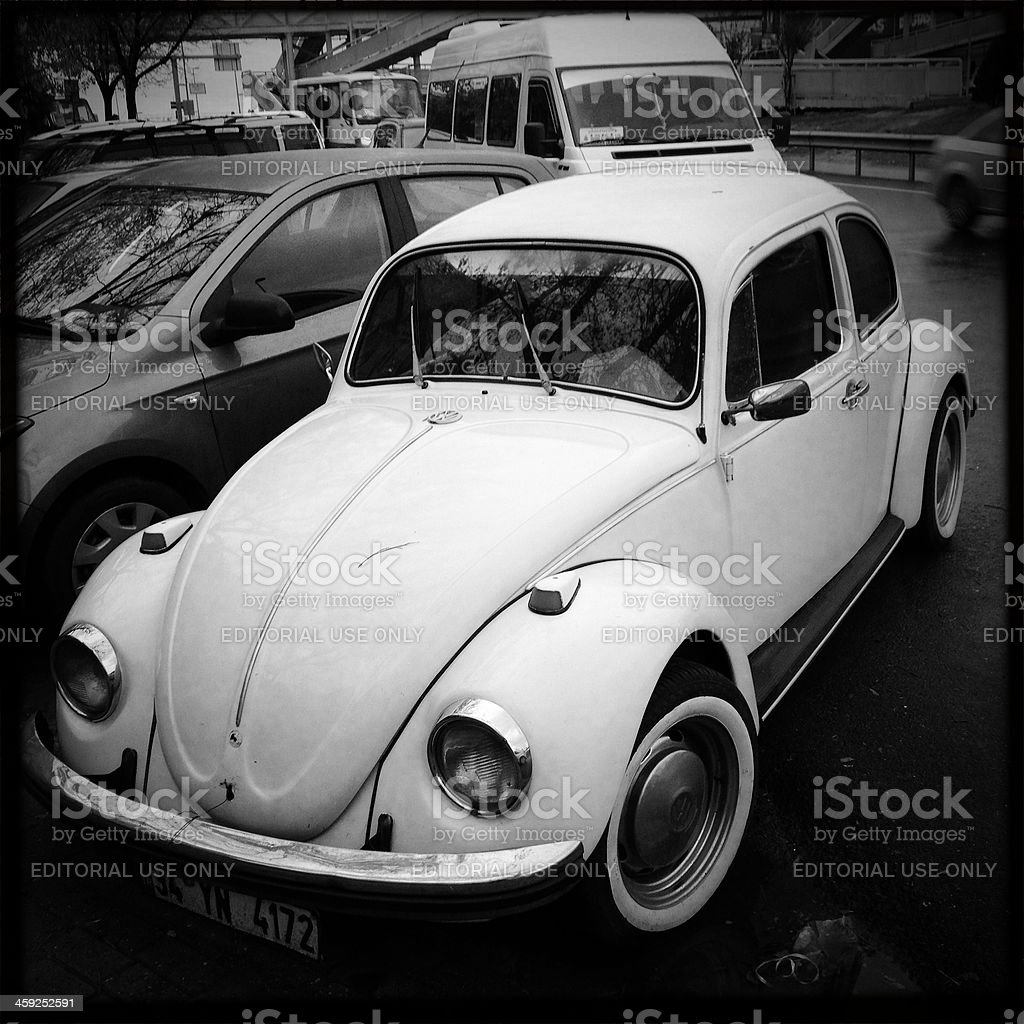 Classic Volkswagen Beetle in istanbul. royalty-free stock photo