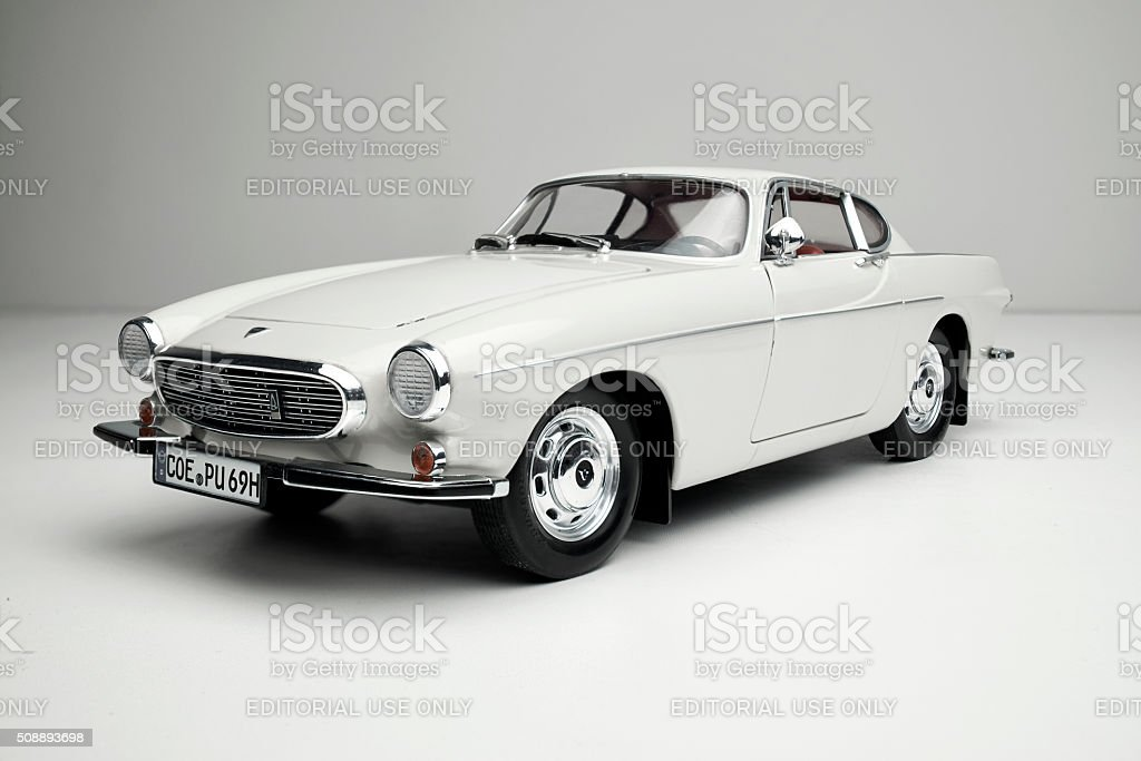 Classic Volvo 1800S Model Car stock photo