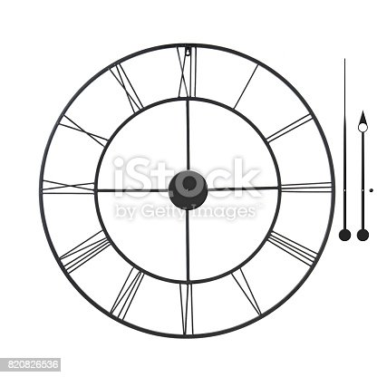 Classic wall clock - isolated