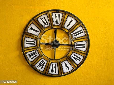 671883446istockphoto Classic wall clock 1078357826