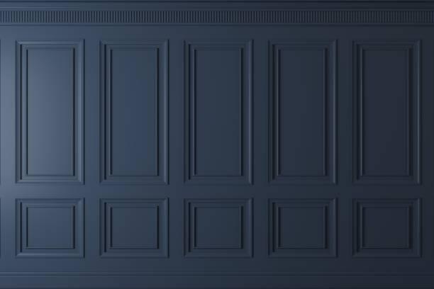 mur classique de panneaux en bois foncés - mur bois photos et images de collection