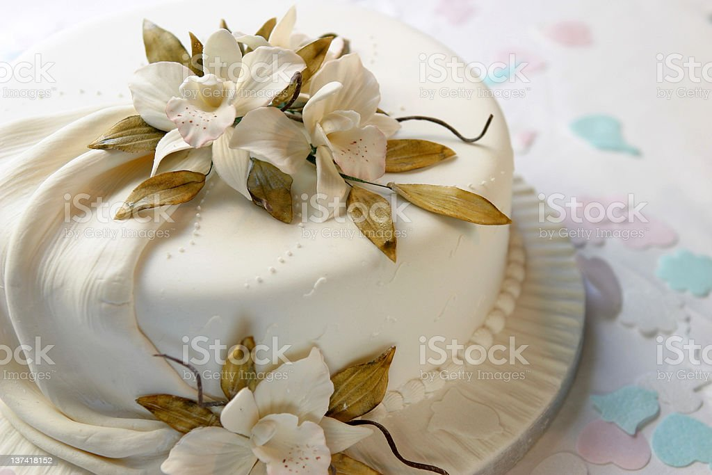 Classic Wedding Cake royalty-free stock photo