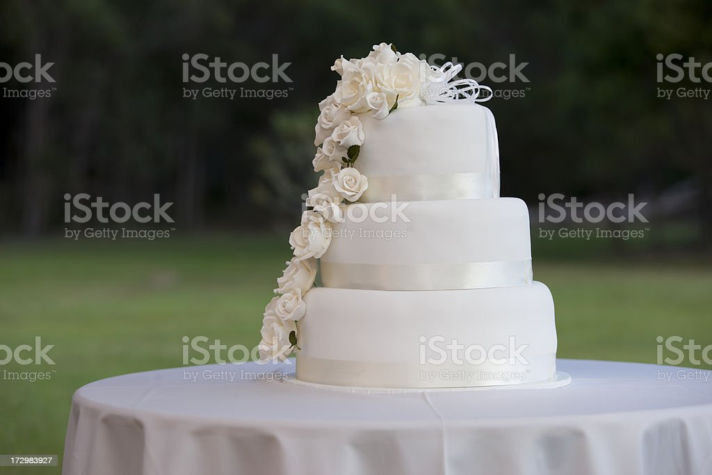 Classic wedding cake stock photo