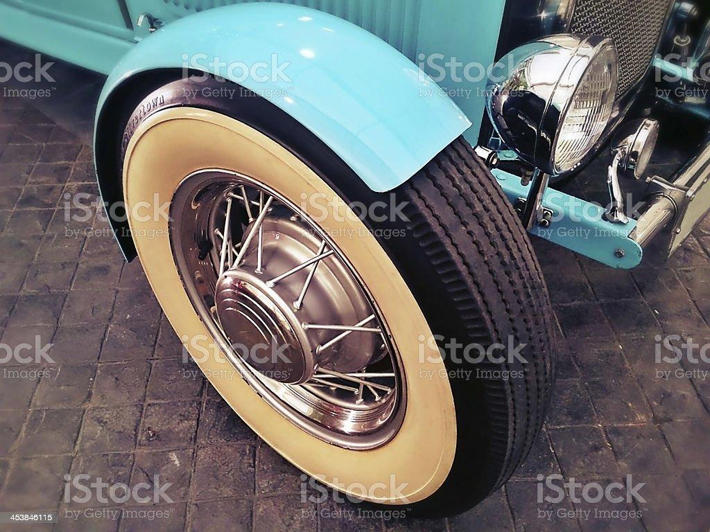 Classic Wheel Car stock photo