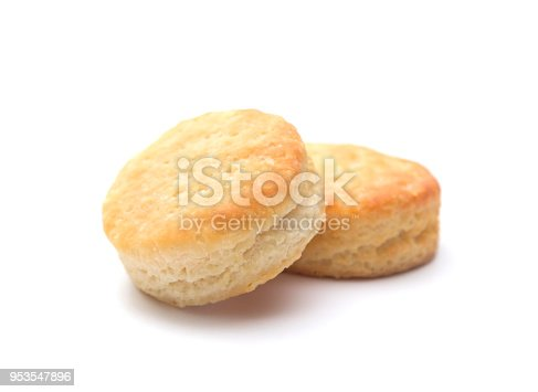 Classic White Biscuits on a White Background