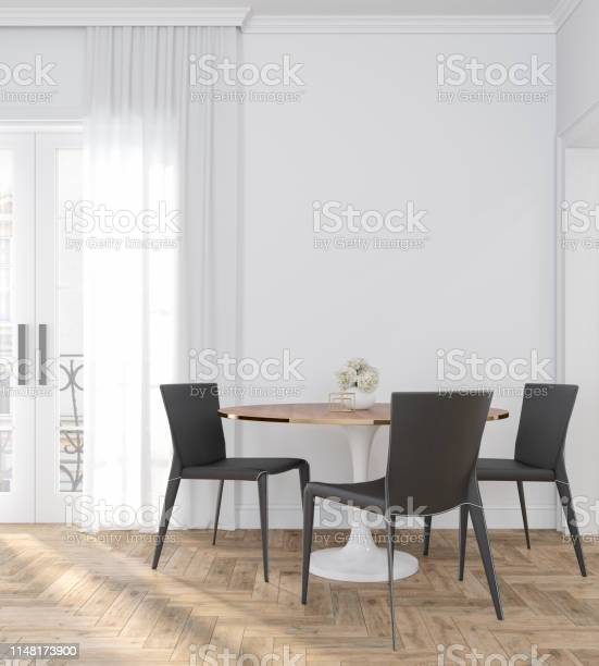 Classic white empty interior room with dinner table chairs curtain picture id1148173900?b=1&k=6&m=1148173900&s=612x612&h=bcn5 b2zwddcvonbvzclrk5sfen4lelize3f7ggkbyc=
